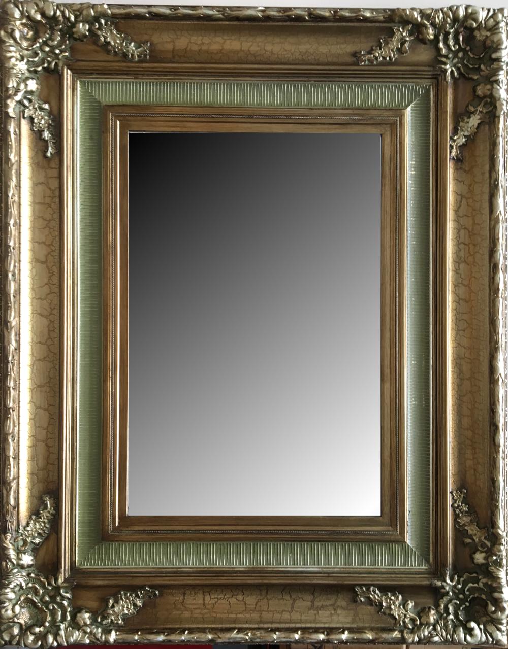 Espejo biselado estilo clásico con marco en madera. Modelo: 9388S ...