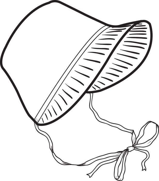 Printable Pilgrim Bonnet Coloring Page For Kids Free