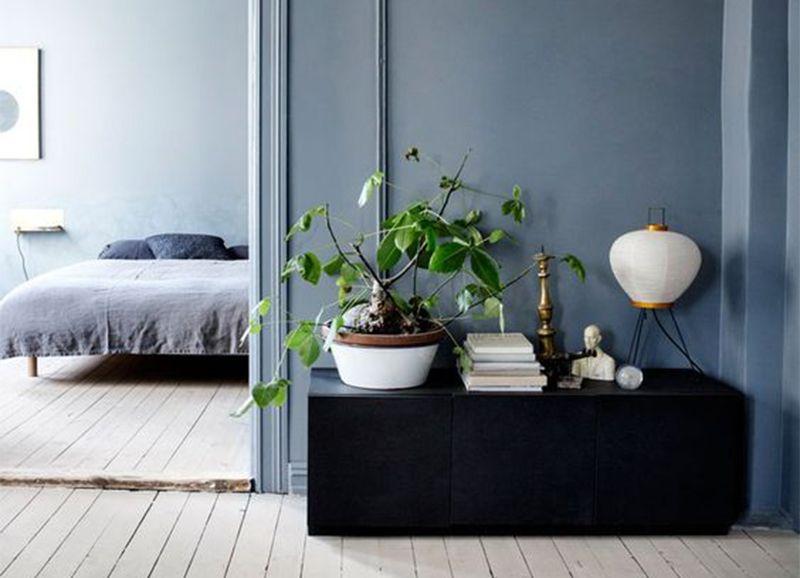 Color crush: grijsblauw | Pinterest - Slaapkamer, Muur en Accessoires