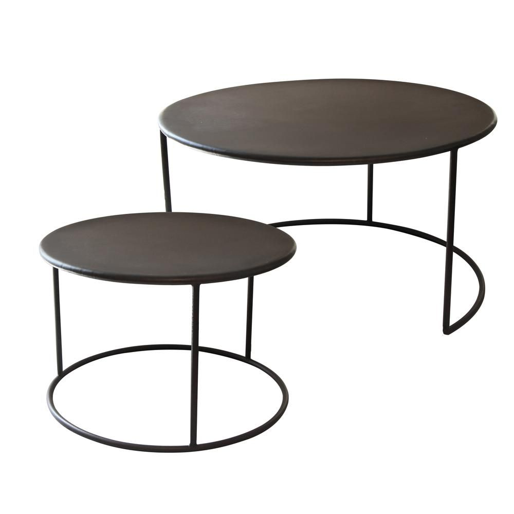 Iron Nesting Coffee Tables Set 2 Coffee Table Nz Vintage Dining