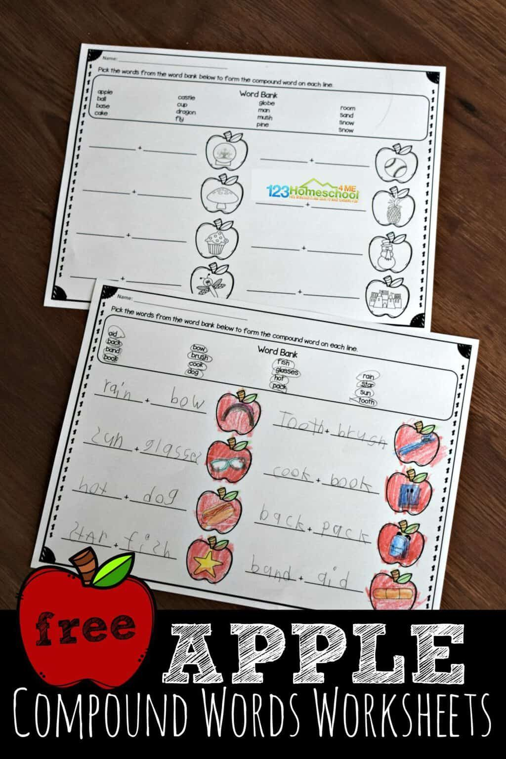 Free Apple Compound Words Worksheets Compound Words Worksheets Compound Words Kids Worksheets Printables [ 1537 x 1024 Pixel ]