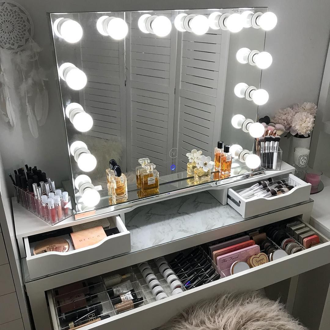 Vanity Collections For All Your Modern Makeup Storage Needs Worldwide Shipping Online Store Location P Beauty Room Makeup Rooms Makeup Table Vanity