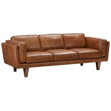Brooklyn 3 Seat Sofa Freedom Furniture And Homewares Leather Sofa Sofa Brown Leather Couch