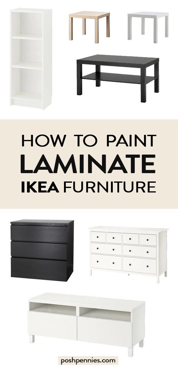 Photo of The Best Way To Paint IKEA Laminate Furniture