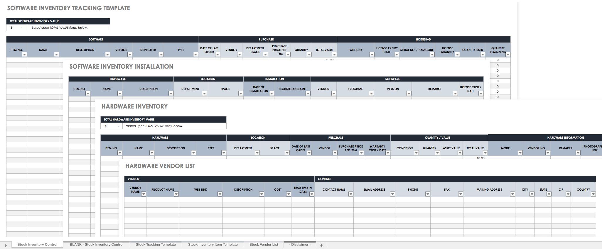 Warehouse Inventory Spreadsheet Report Template Spreadsheet Template Stock Report