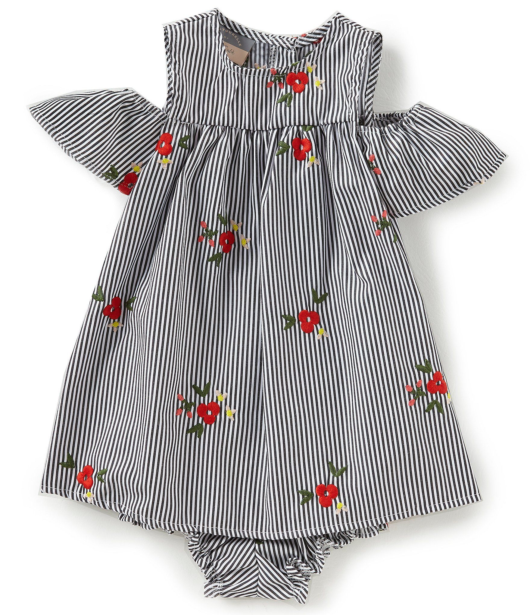 63ad26b0bde8 Pastourelle by Pippa and Julie Baby Girls 1224 Months Floral Embroidered Cold  Shoulder Dress #Dillards