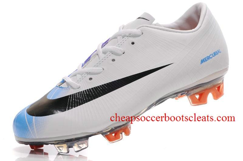 77fb9142d Nike Mercurial Vapor Superfly II FG Soccer Cleats Windchill Dark Obsidian  Chlorine Blue