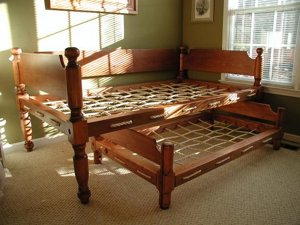Rope Bed With Trundle Living History Drool Pinterest