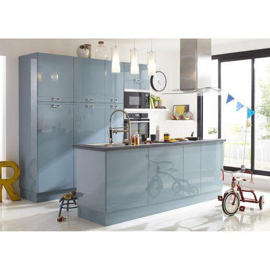 Porte de cuisine bleu F45 Crystal, L45 X H70 cm   Kitchin   Pinterest