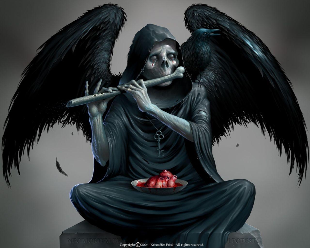 Pin Katie Boofer Art Dark Angel Wallpaper Demon
