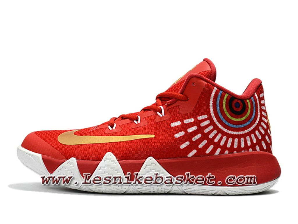 Basket Nike Kyrie 4 Rouge Jaune Chausport NIke Release 2018 Pour HOmme