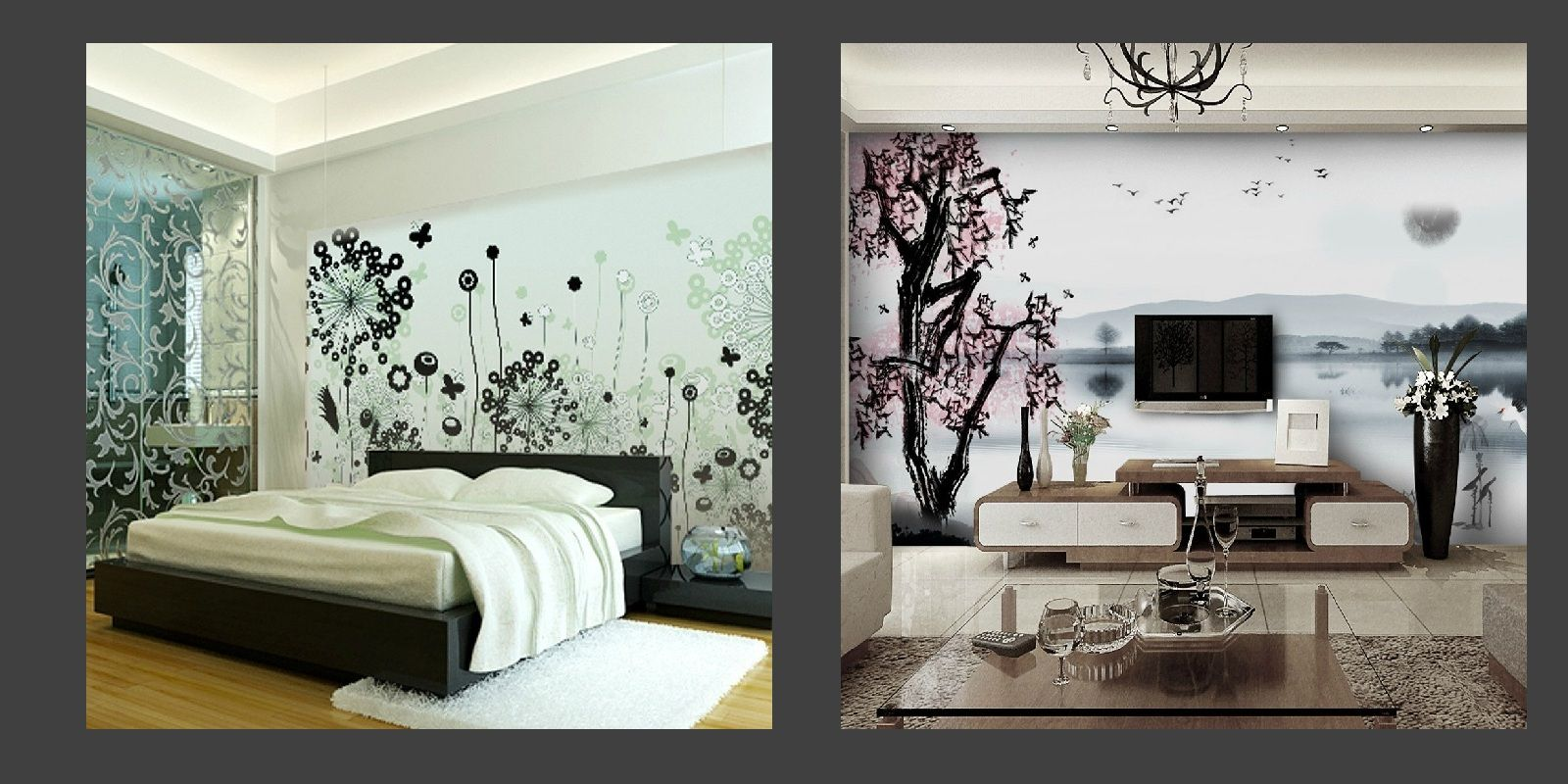 Home wallpaper design patterns home wallpaper designs for Interior wallpaper designs india