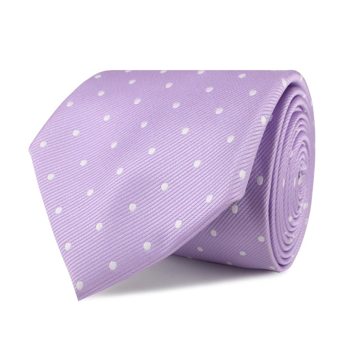 Light Purple with White Polka Dots Necktie Light purple