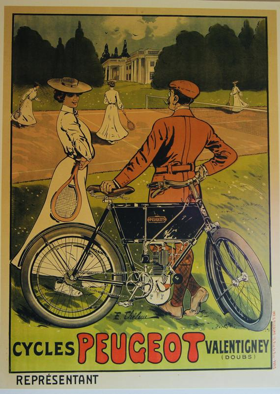 1904 French Peugeot Vintage Style Auto Advertising Poster 20x28