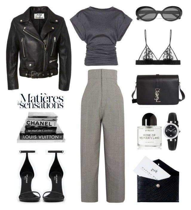 """""""Unbenannt #879"""" by fashionlandscape ❤ liked on Polyvore featuring Jacquemus, Yves Saint Laurent, Isabel Marant, Daphny Raes, Byredo, Gucci and Fleur of England"""