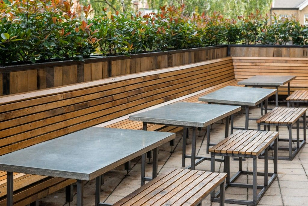 Concrete Table Tops Nando S Teddington London Outdoor