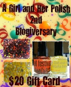 A Girl and Her Polish: Second Blogiversary and a Giveaway!!