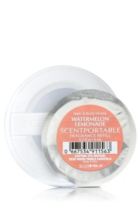 Watermelon Lemonade - Scentportable Refill - Bath & Body Works - Fragrance for the fast lane! Combine with your fave scentportable holder to refresh and renew your car with continuous fragrance for 4-6 weeks!