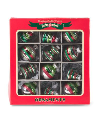 12 Assorted Glass Ornaments - Holiday Decor - T.J.Maxx - 12 Assorted Glass Ornaments - Holiday Decor - T.J.Maxx Christmas