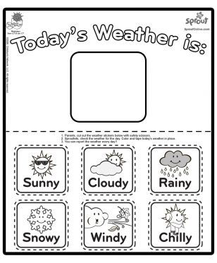 Chica Weather Report Coloring Page