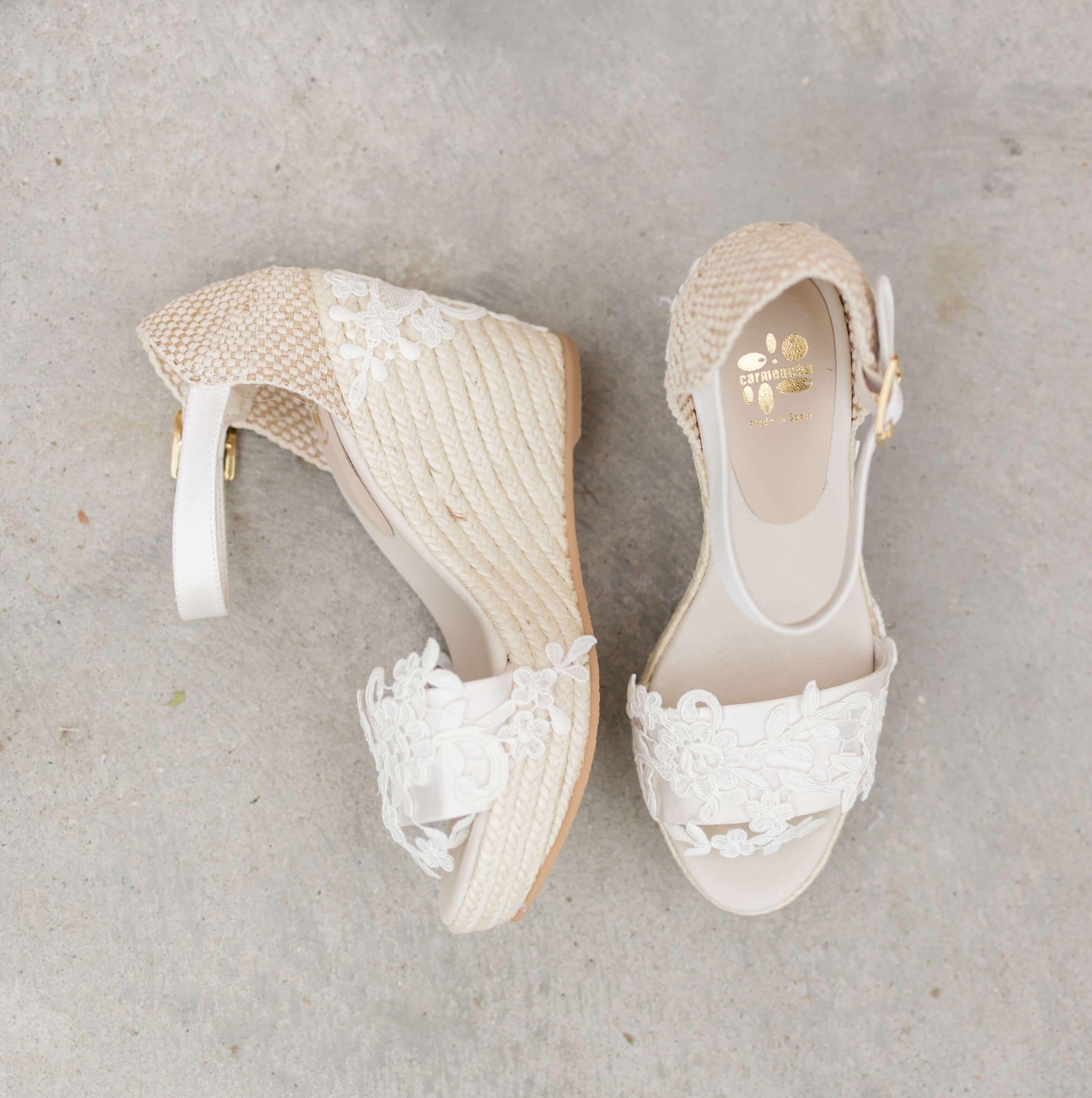 7229d496032 €159 Boho Lace Espadrille Wedges Wedding Shoes Bride Bruid Summer ...
