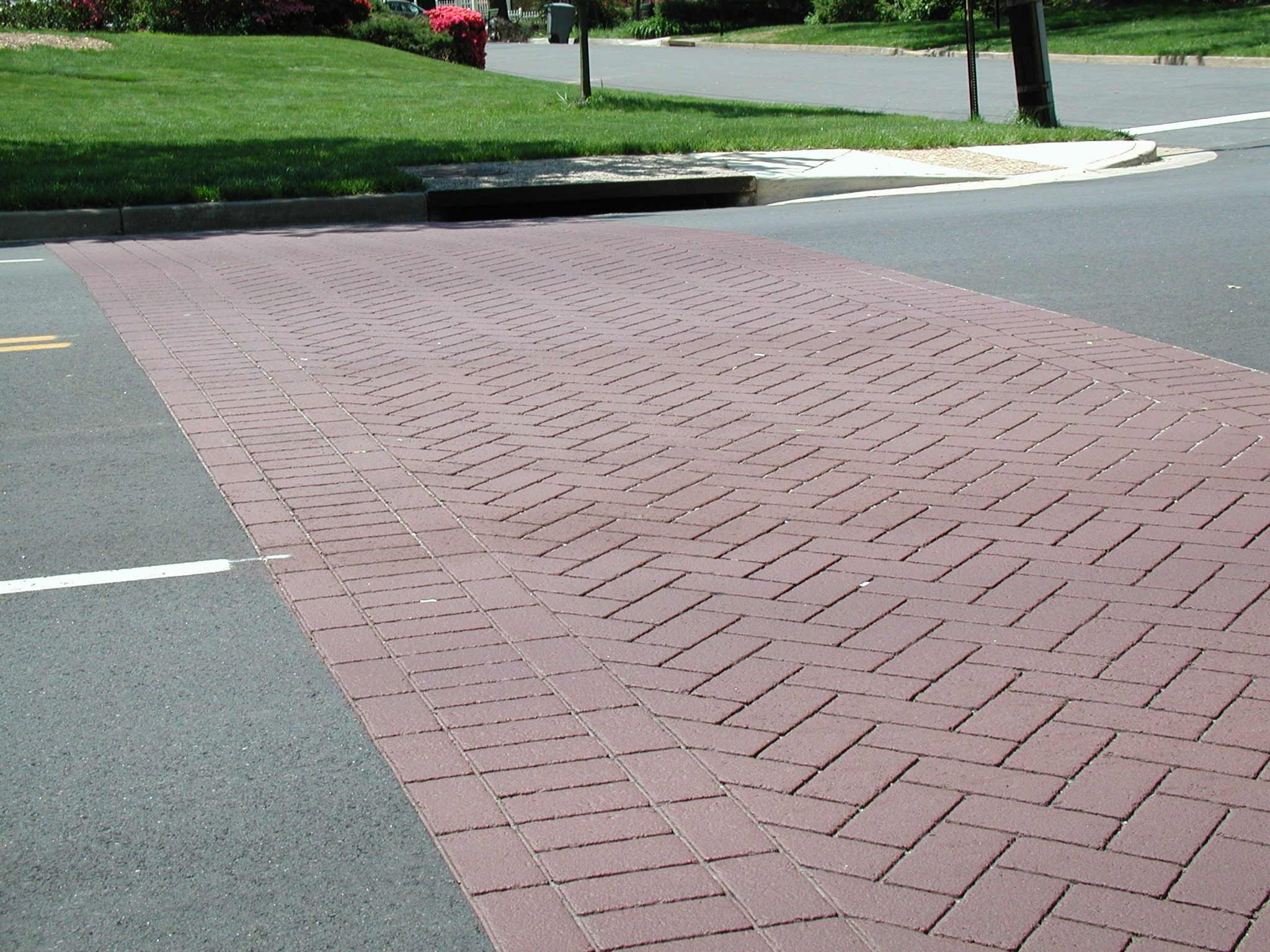 Alternative Paving Concepts StreetPrint crosswalks. Decorative stamped  asphalt, practical, beautiful, and safe