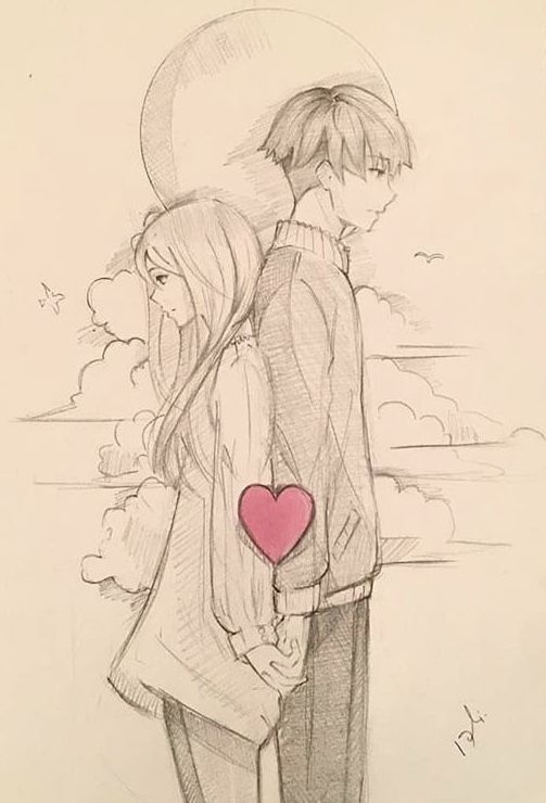 Soulmate Desenhos Romanticos Tumblr Desenhos De Casais
