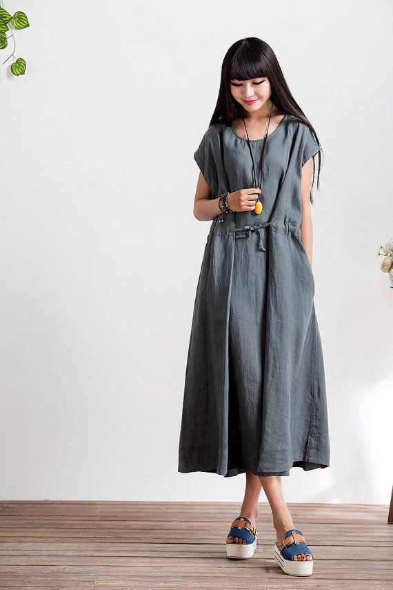 Loose Fitting Round Neck Long Maxi Dress Summer by deboy2000 £54