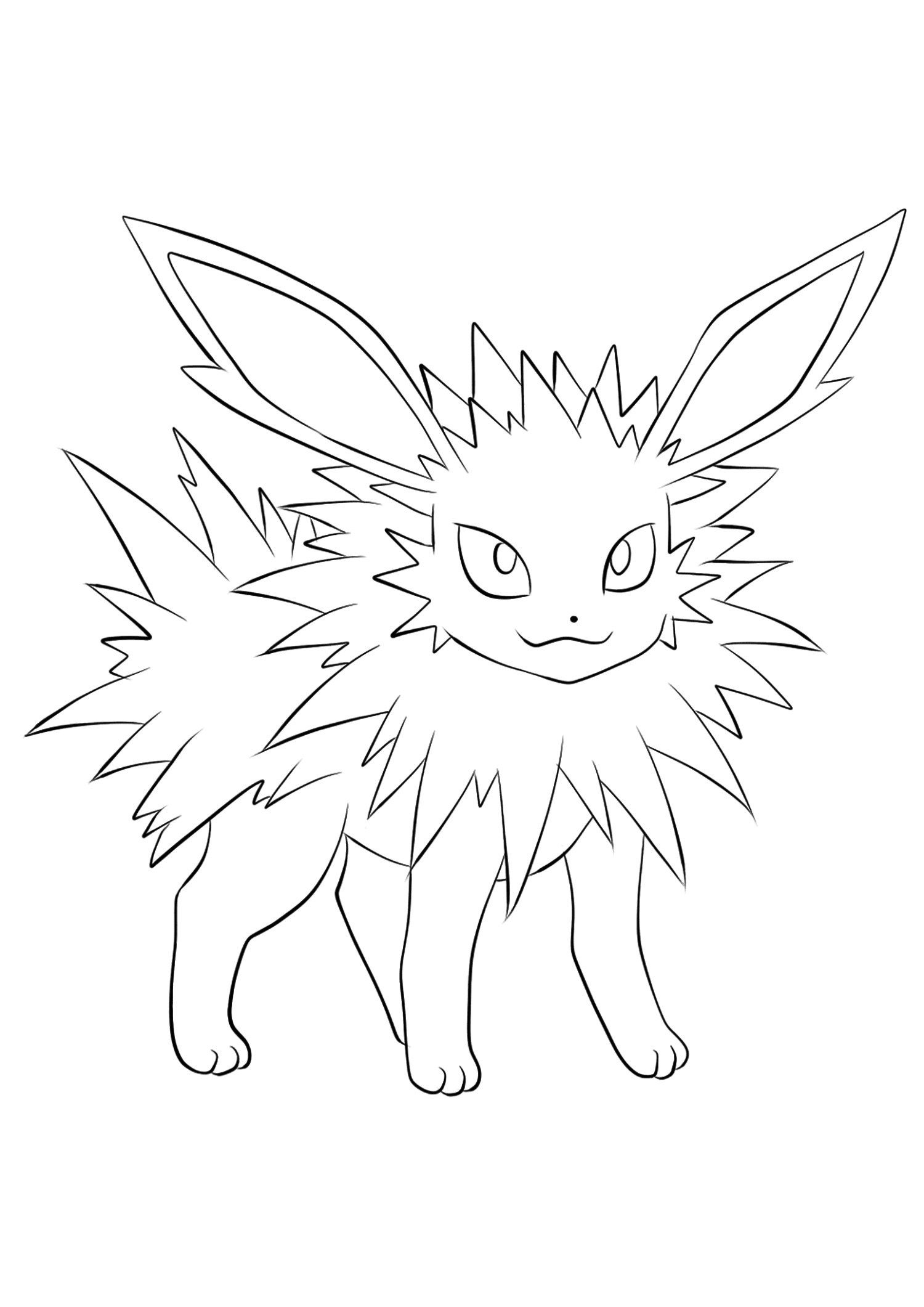 Jolteon Coloring Pages For Kids