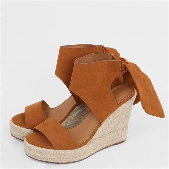 sandales compens es noeud collection chaussures. Black Bedroom Furniture Sets. Home Design Ideas