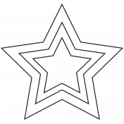Brush 027- Star Of Wonder 008 Nested Stars #digital #scrapbooking #template #free #printable