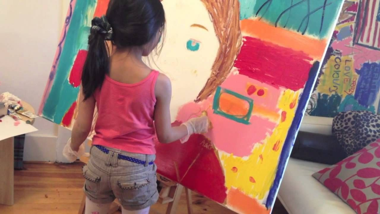 7 year old pop art painting - American Girl doll - Saige | Talent ...