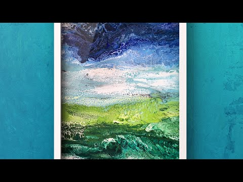 326 Painting Beautiful Landscape With Acrylic Pour Acrylic Swipe Abstract Nature Swipe Art Youtube Abstract Nature Nature Art Painting Painting