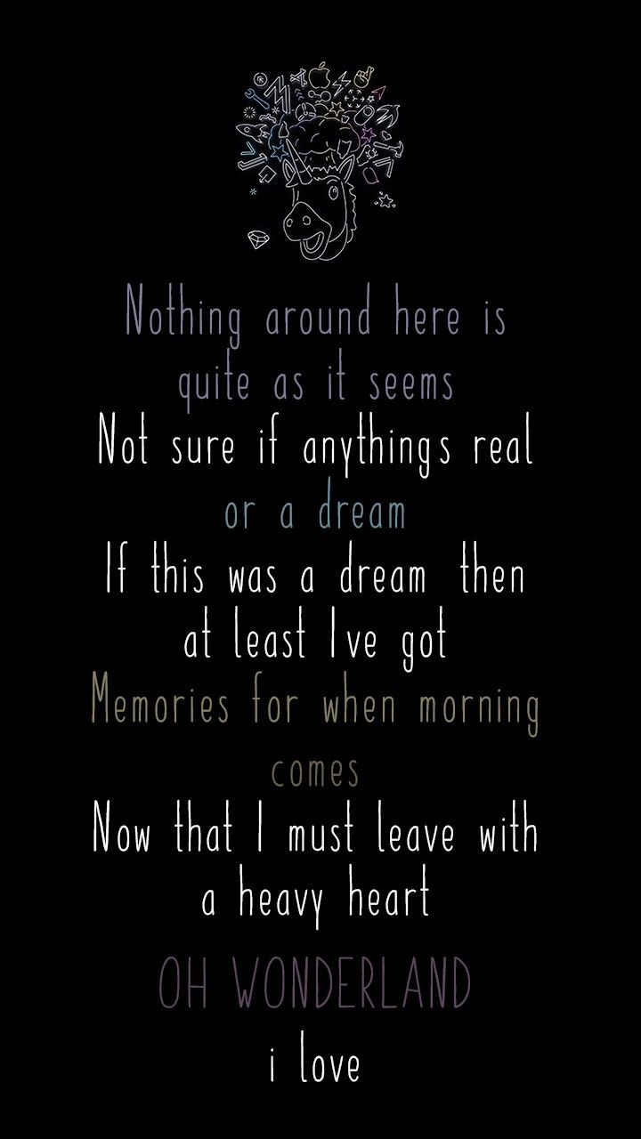 a lost WONDERLAND 💔   Alice and wonderland quotes, Song quotes ...