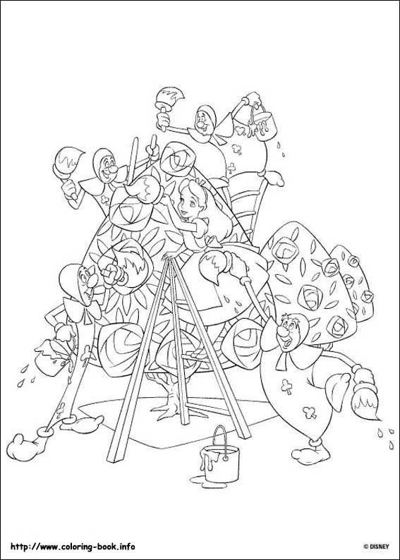 Pin de Debbie Bailey Ray en Z) Coloring Disney - Alice In Wonderland ...