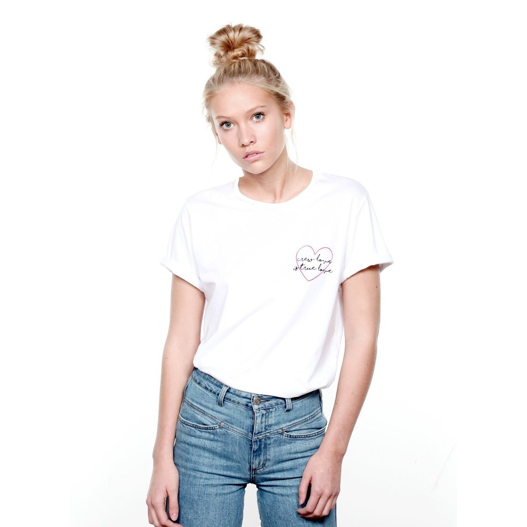 Weißes Shirt mit Brustprint