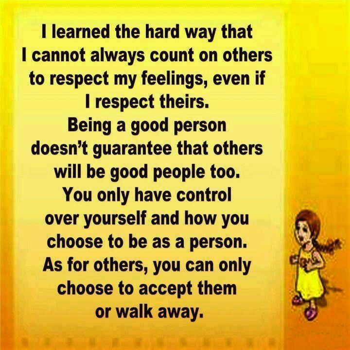 Accept it or walk away
