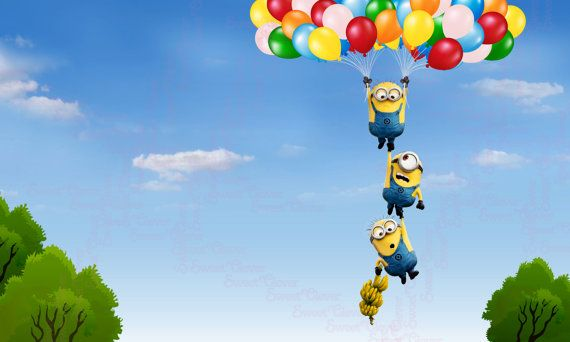 Minions Hanging Printable Backdrop - 3ftx5ft- Digital File Only - You Print - INSTANT DOWNLOAD