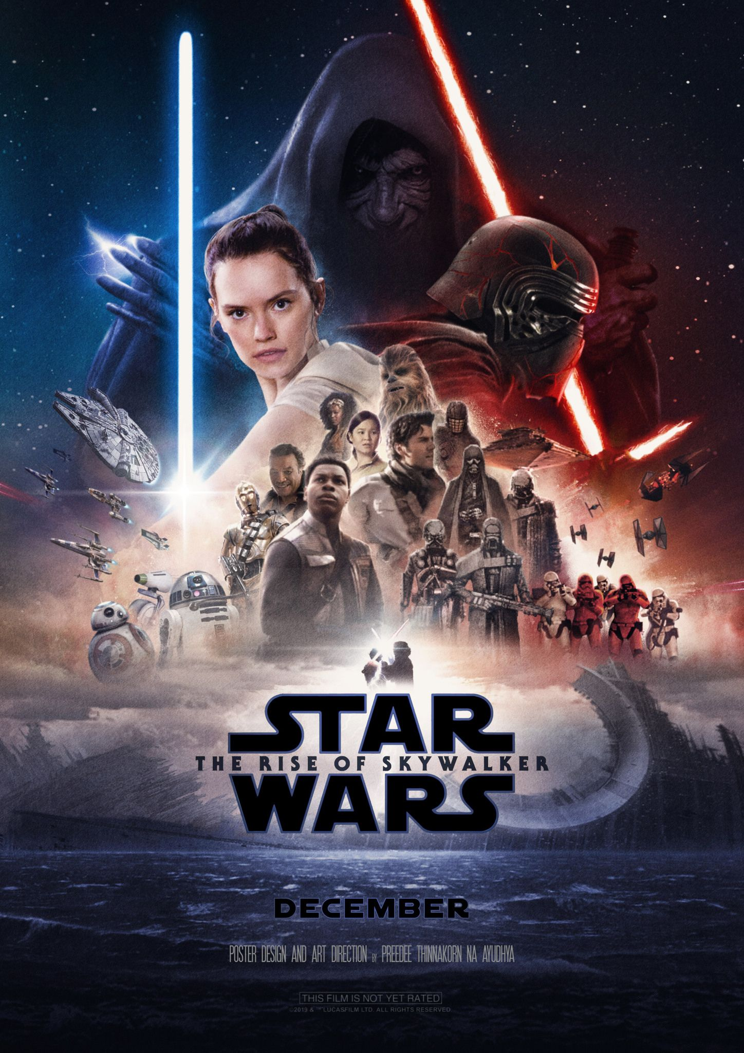 Starwars The Rise Of Skywalker Poster By Preedee Theriseofskywalker Rey Daisyridley Kylor Star Wars Movies Posters Star Wars Episodes Star Wars Images