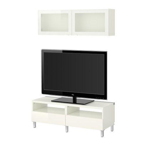 159 Ikea Besta Boas Tv Stand: BESTÅ, TV Storage Combination, White/Tofta High