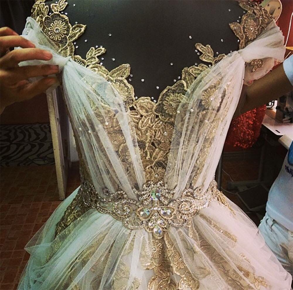 I would obviously want it to be more modest and covered in for Fairytale inspired wedding dresses