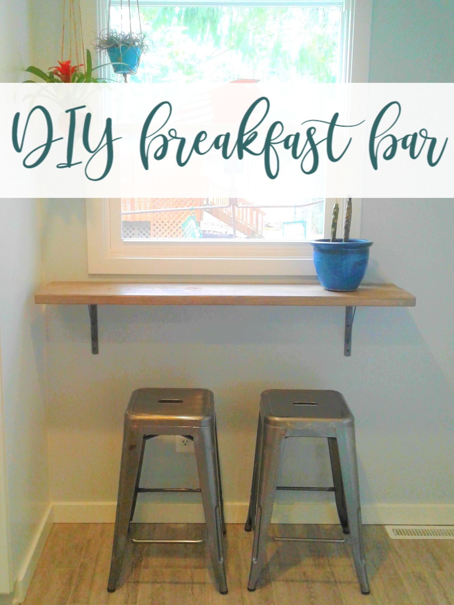 How To Add A Small Breakfast Bar Counter Underneath A Kitchen Window Perfect Spot To Enjoy My Morning Small Breakfast Bar Diy Breakfast Bar Home Bar Counter