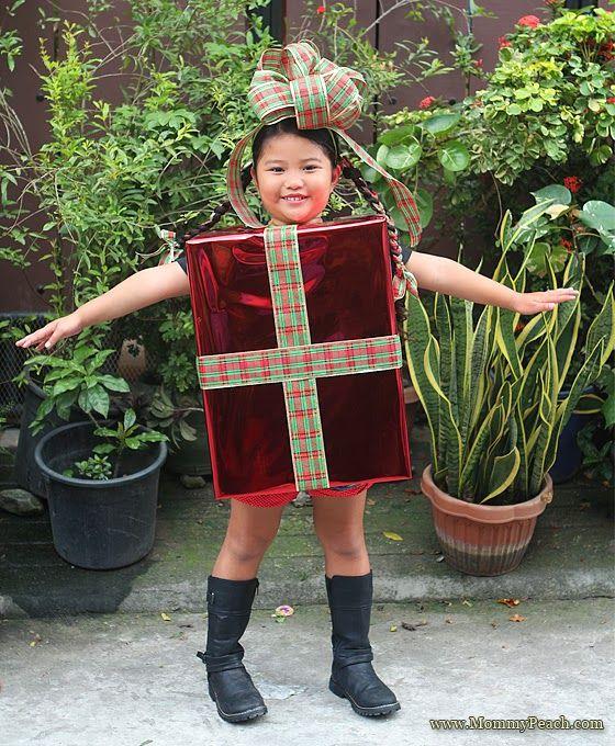 DIY Christmas Present Costume - Mommy Peach | Christmas ...