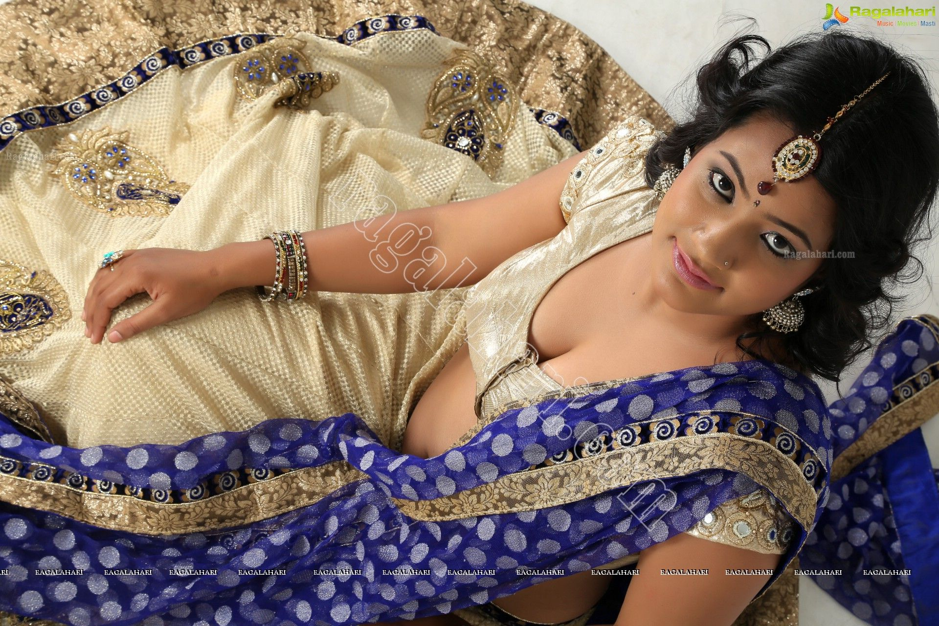 Telugu Actress Saritha Sharma In Half Saree