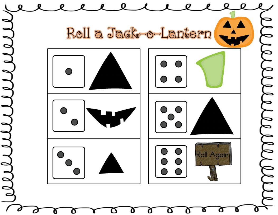 Roll A Jack O Lantern Freebie