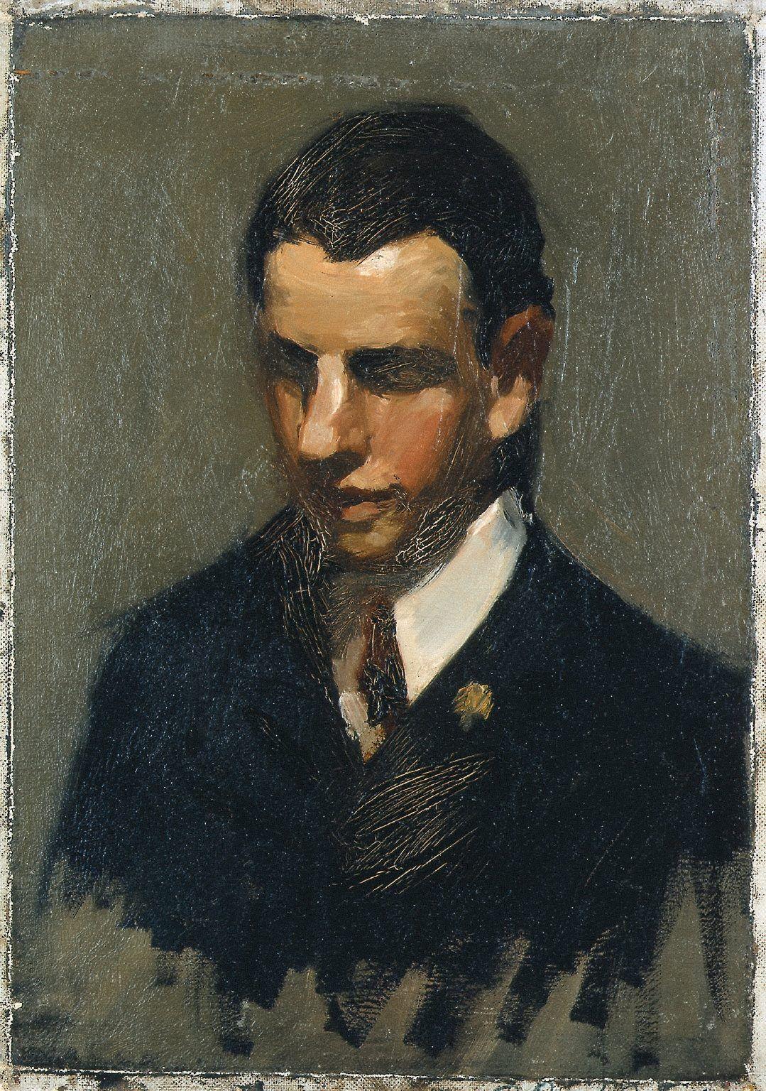 Edward Hopper 1882-1967 Portrait Of Man 1903-1906 Whitney Museum American Art