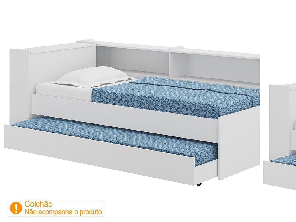 08c379431 Bicama Solteiro com Bau e 2 Prateleiras Multimóveis Decormóvel - Cama de  Solteiro - Magazine Luiza