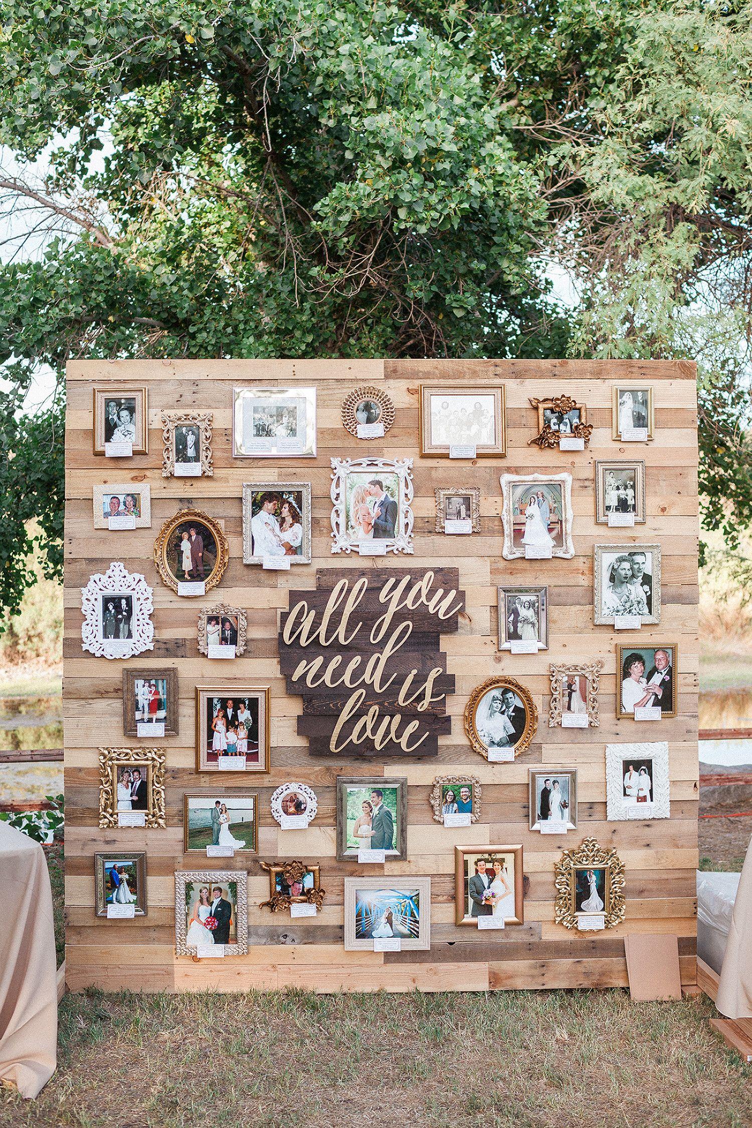 22 Creative Ways to Display Photos at Your Wedding
