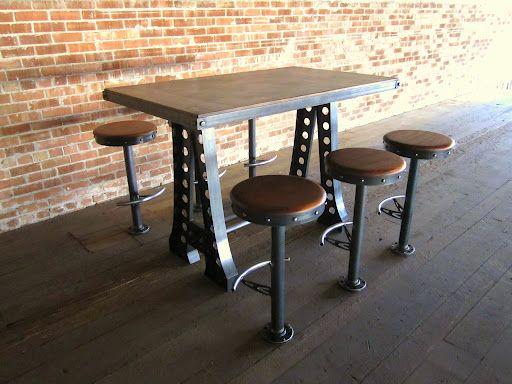 Break Room Table Amp Chairs Breakroom Vintage Industrial