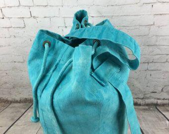 SALE Rucksack duffle bag sailor bag Luggage sack hand dyed